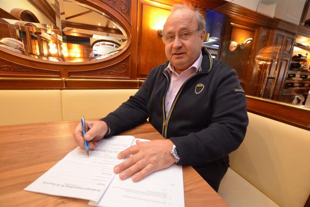 Vereinschef Reinhard Sack freut sich über die gute Corona-Entwicklung im Stadtbezirk Lügendortmund.