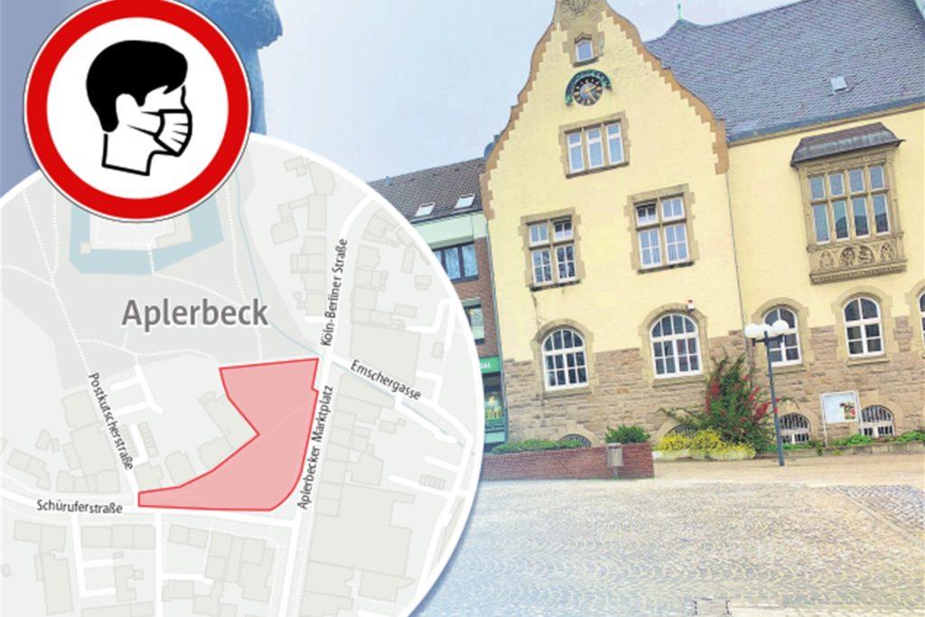 Die Maskenpflicht gilt nun auch auf dem Marktplatz in Aplerbeck.