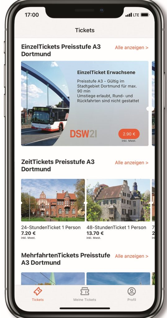 Screenshot des Startbildschirms der App