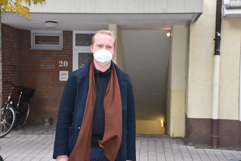 Julius Hartung würde nicht riskieren, in der Werner Innenstadt die Maske abzunehmen, um kurz etwas zu essen.