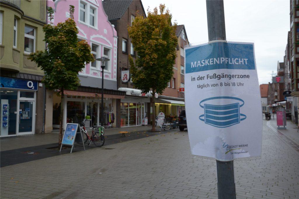 In der Werner Innenstadt herrscht Maskenpflicht.