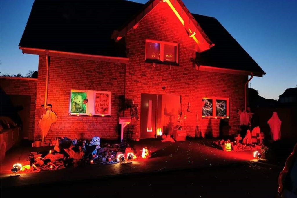 Das Halloween-Haus von Familie Kölker wird auch in diesem Jahr wieder schaurig und gruselig sein.