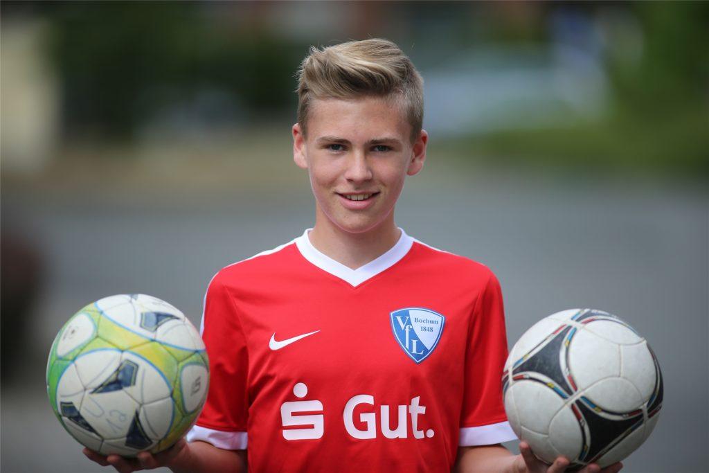 Der Ickerner Luca Bernsdorf im Juli 2018 im Trikot des VfL Bochum. Damals war er von Westfalia Herne zum Zweitligisten von der Castroper Straße gewechselt.