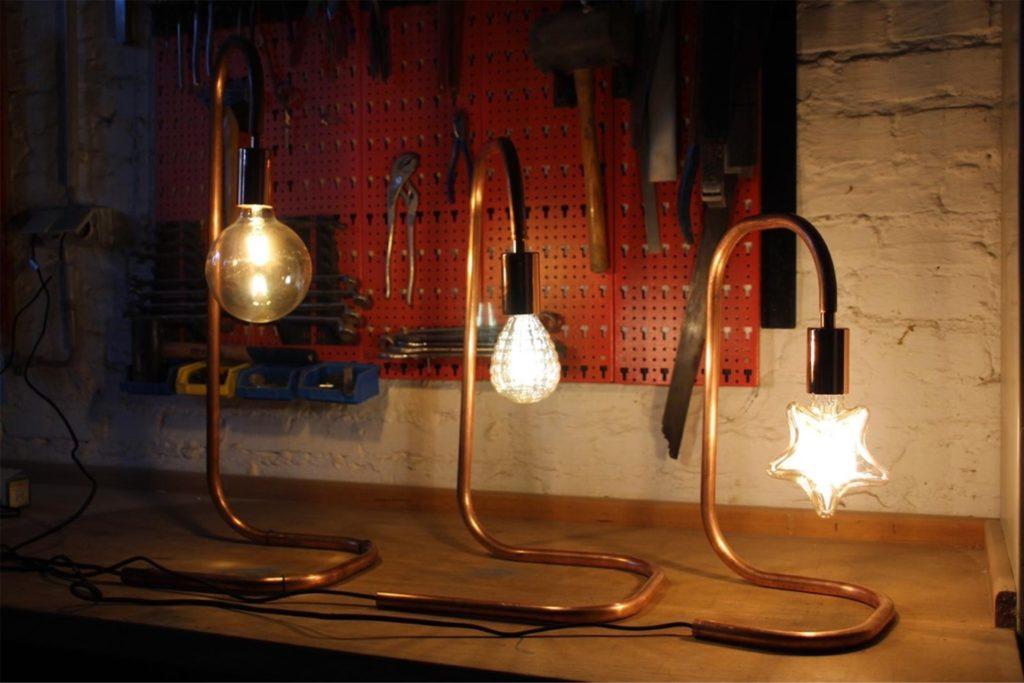 Die Lampen gibt es in drei verschiedenen Versionen: Kugel, Herz, Stern.