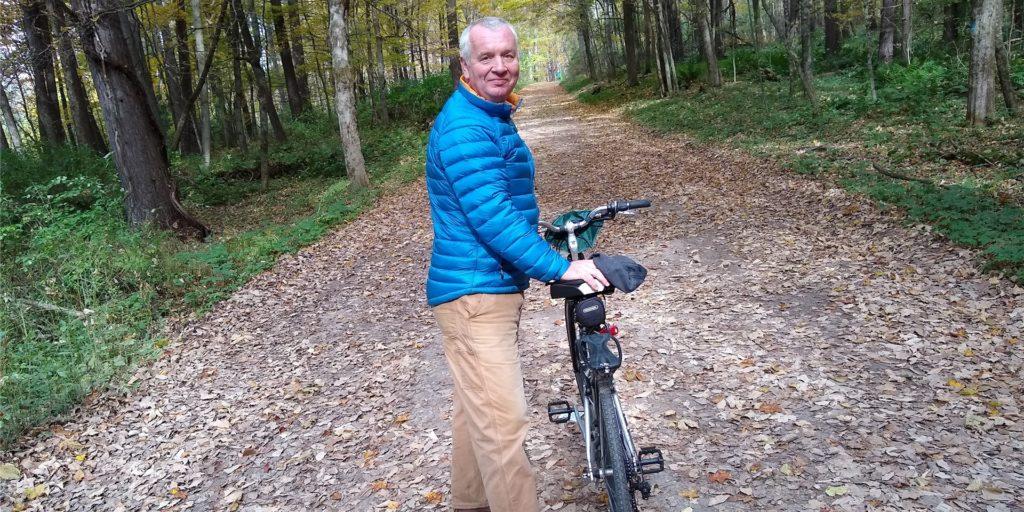 Der Lüner Auswanderer Peter Gresch bei einer Radtour in Berkshire. Die Corona-Lage in den USA macht ihm Sorgen.