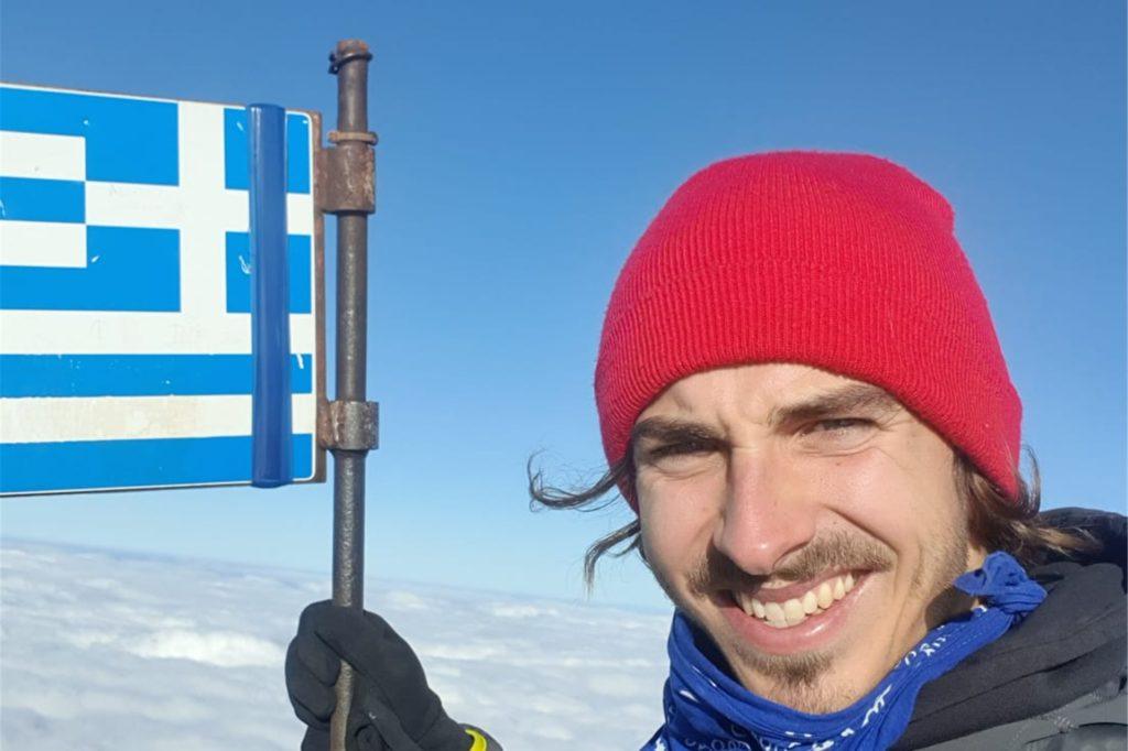 """Juri auf dem Olymp: """"Ich vermisse die Berge, wenn ich in Deutschland bin. Mir tut das richtig gut, dass ich jetzt hier in Griechenland bin - auch wenn es die eine oder andere brenzlige Situation gab."""""""