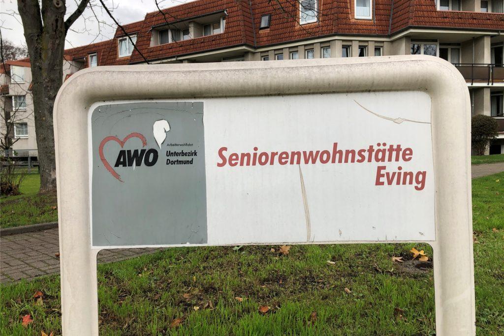 Die Awo-Seniorenwohnstätte am Süggelweg in Eving ist derzeit für Besucher geschlossen