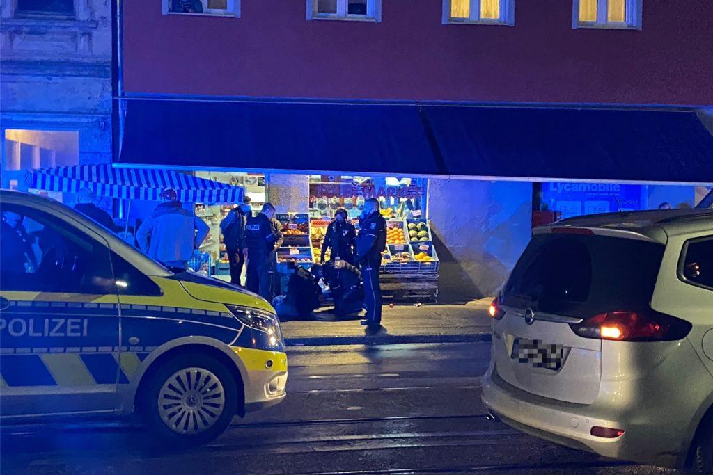 Vor einem Gemüseladen im Unionviertel in Dortmund wurde ein Mann festgenommen.