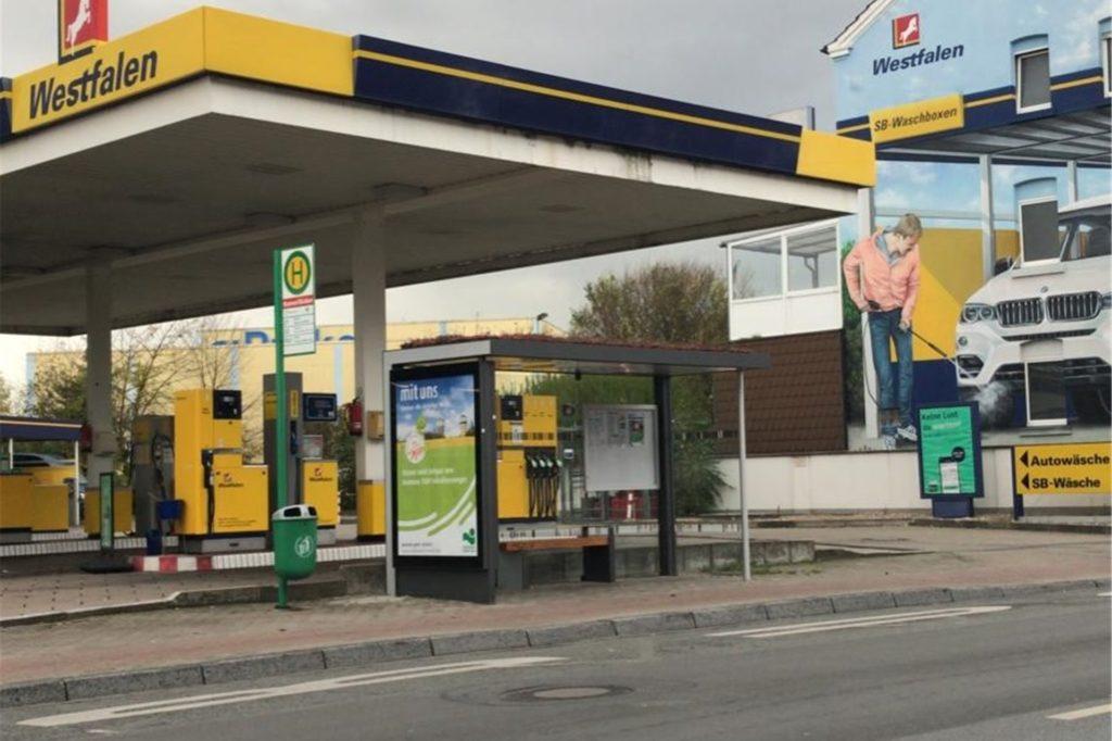 Auch in Hamm gibt es bereits ersten bepflanzte Bushaltestellen.