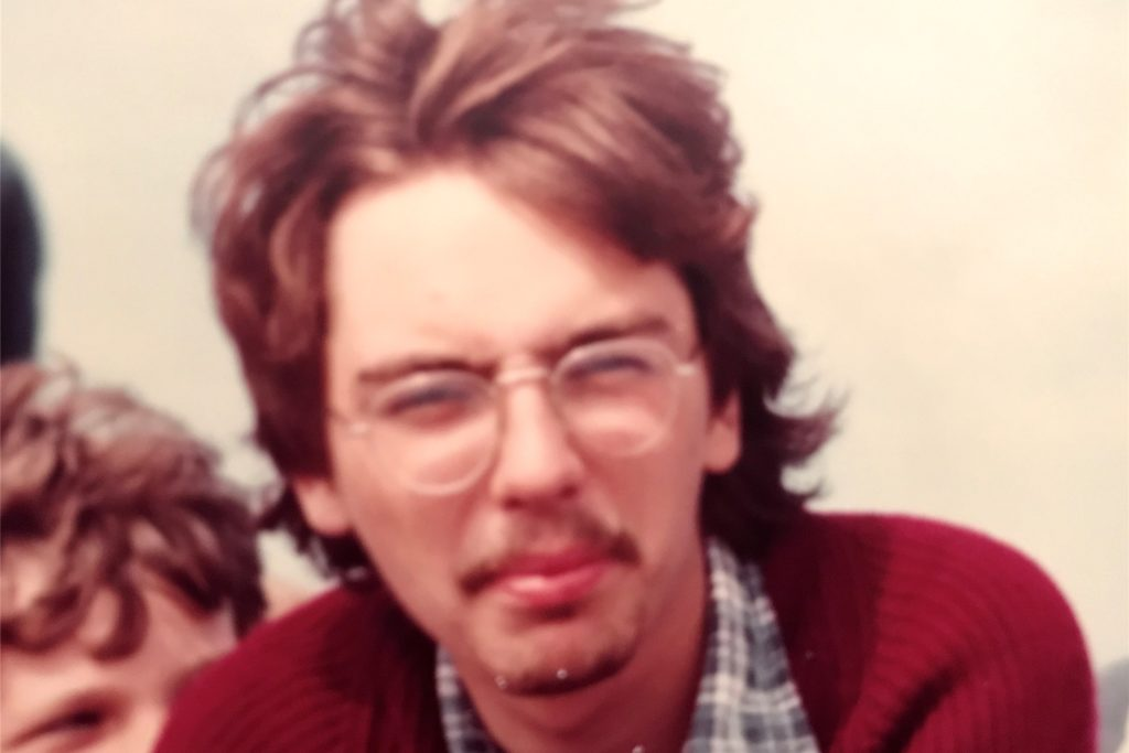 Thomas Schroeter auf einer gewohnt unscharfen Fotografie aus der Zeit des legendären Dortmunder Dylan-Konzerts.