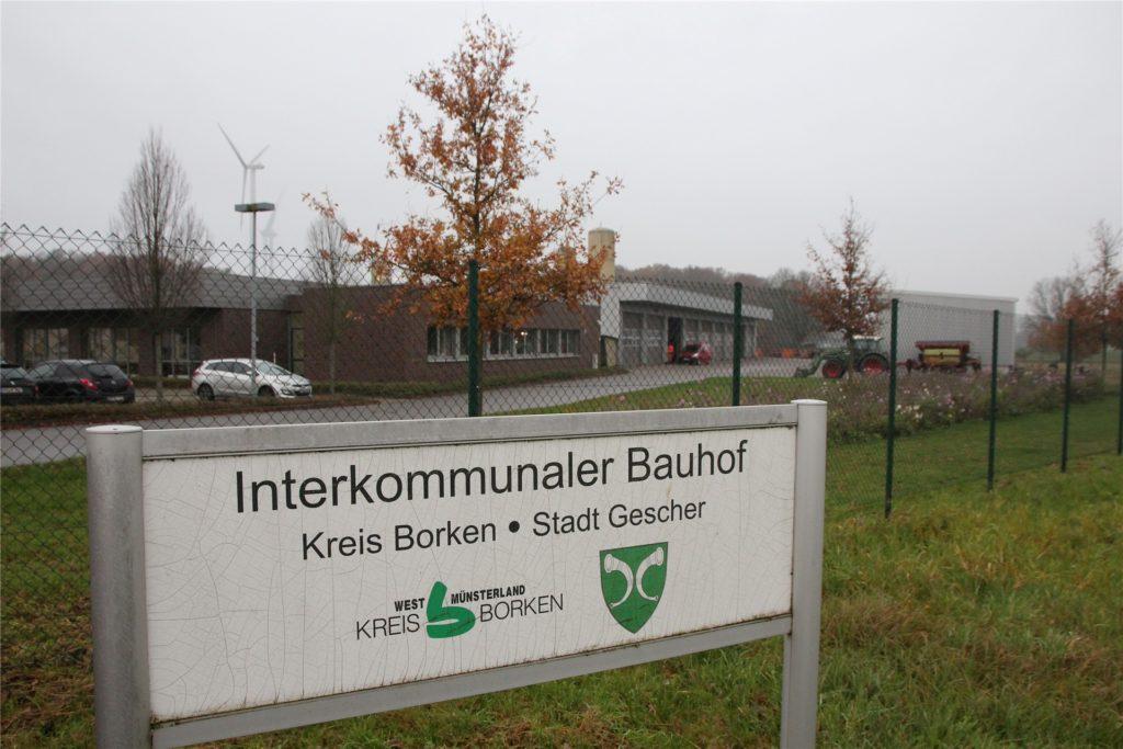 Auf dem Gelände des interkommunalen Bauhofs – zwischen Gescher und Velen – soll das Impfzentrum für den Kreis Borken errichtet werden. Bis zu 1500 Impfungen sollen dort täglich möglich sein.