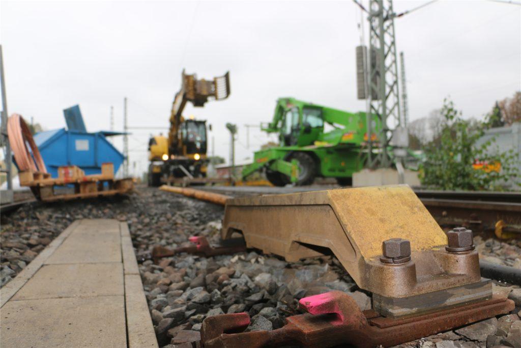 Der Schnellbremsmagnet am Ende des Bahnhofs Kamen. wird dieser bei Gefahr aktiviert, geht jeder Zug in die Eisen.