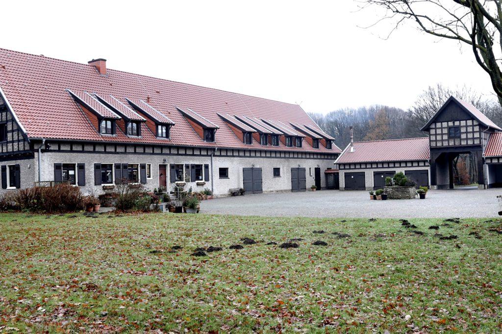 Innenhofseite des Gutes Borkenberge.