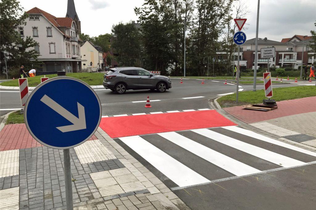 Wernes neuer Kreisverkehr an der Münsterstraße: Lange geplant, dann gebaut - und scharf kritisiert.