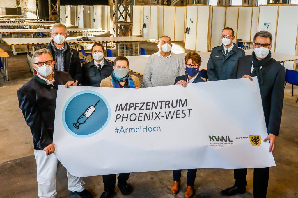 Die Verantwortlichen des Impfzentrums in Dortmund