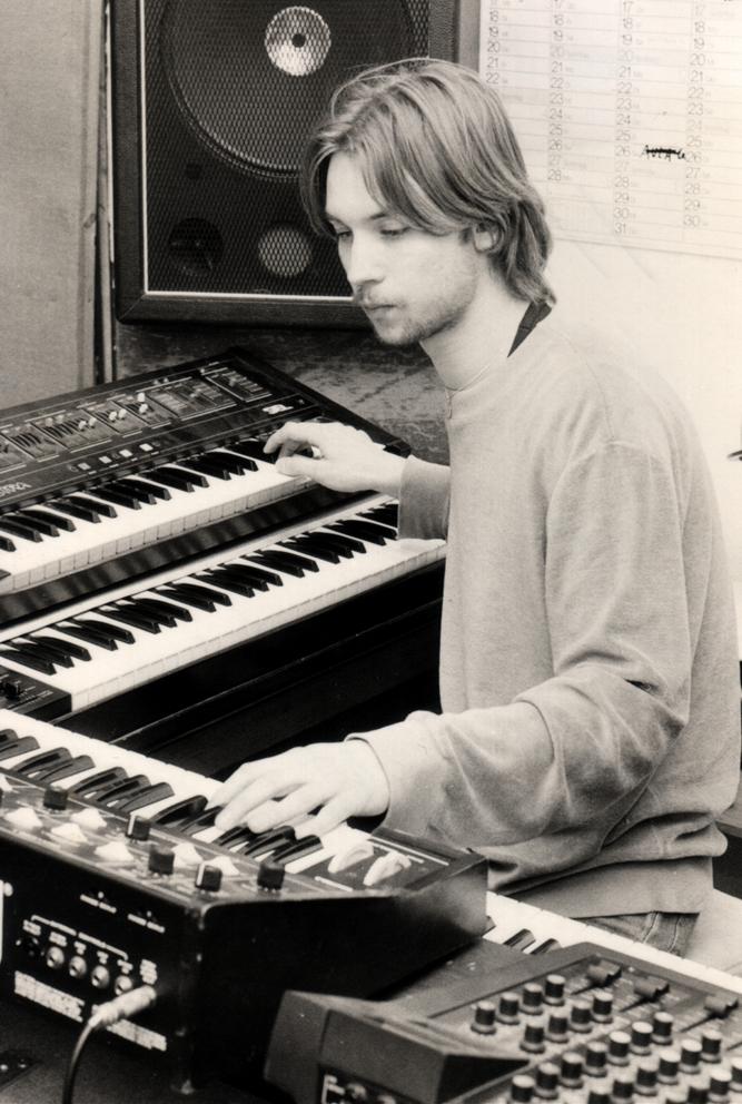 Ein Foto aus alten Zeiten: 1983 ist Andreas Wiethoff mit seiner Band
