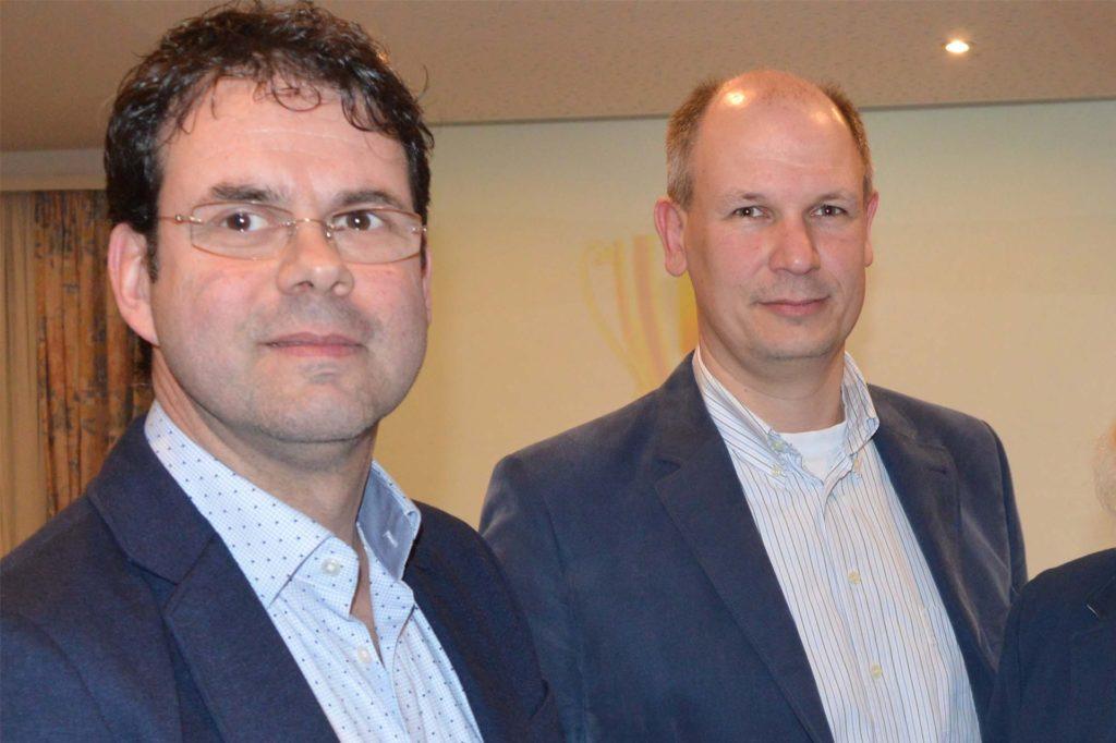 Christoph Kleinefeld (l.) und Oliver Entrop bewerten die Wirtschaftslage im Einzelhandel im Coronajahr 2020.