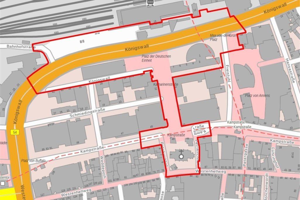 Die Böller-Verbotszone am Hauptbahnhof.