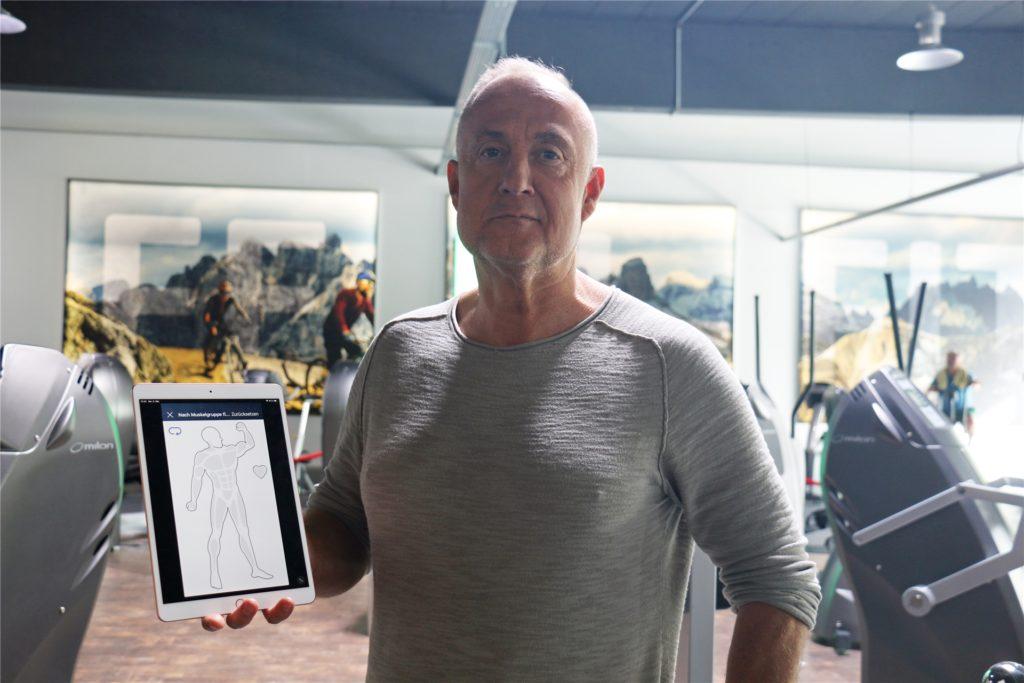 Frank Langer, Inhaber des Fitnessstudios Feel Fit, hat eine App produzieren lassen. Mit