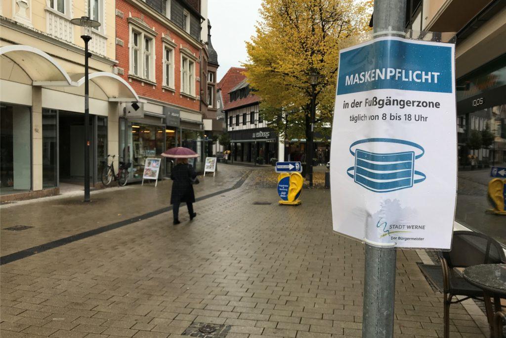 In der Werner Innenstadt herrscht Maskenpflicht. Über eine Ausweitung wurde auch hier im Dezember diskutiert.