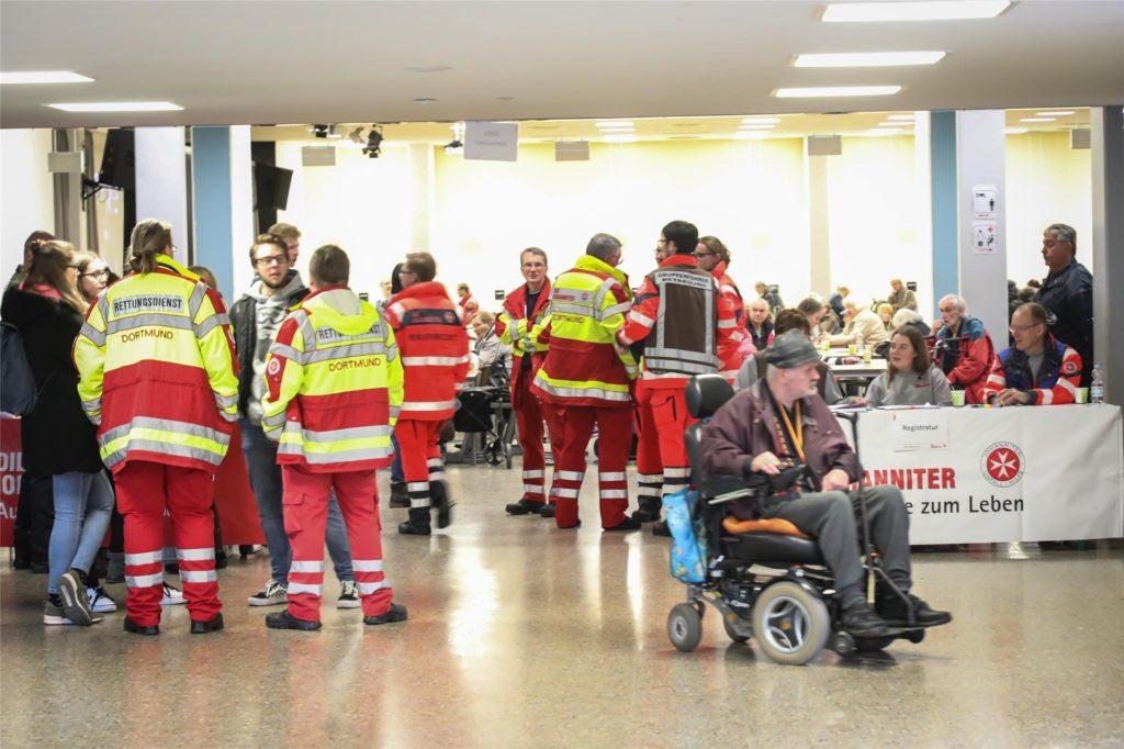 In der Gesamtschule Scharnhorst hatte die Stadt ein Evakuierungszentrum für Anwohner eingerichtet.