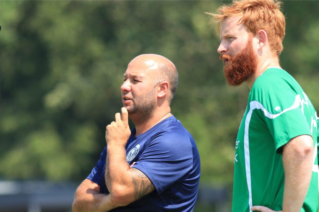 Unter Andreas Przybilla (M.) stieg Philipp Bremer ins Trainerteam der Westfalia ein.