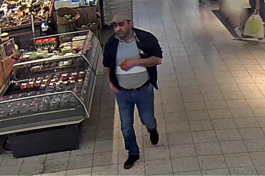 Der Tatverdächtige, aufgenommen von einer Überwachungskamera.