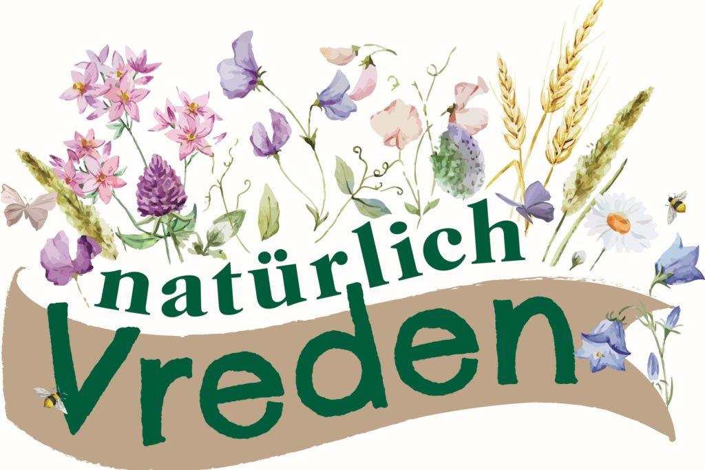 """Das """"Natürlich-Vreden""""-Logo. Plakate mit diesem Logo werden bald in der Nähe der Blühfläche aufgestellt."""