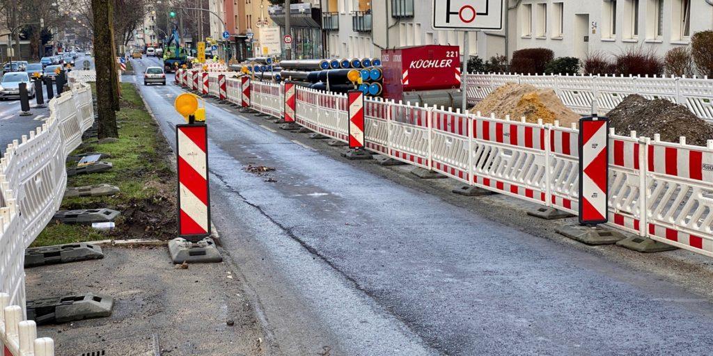 Das Dortmunder Kaiserstraßenviertel besteht seit Monaten fast nur noch aus Baustellen.