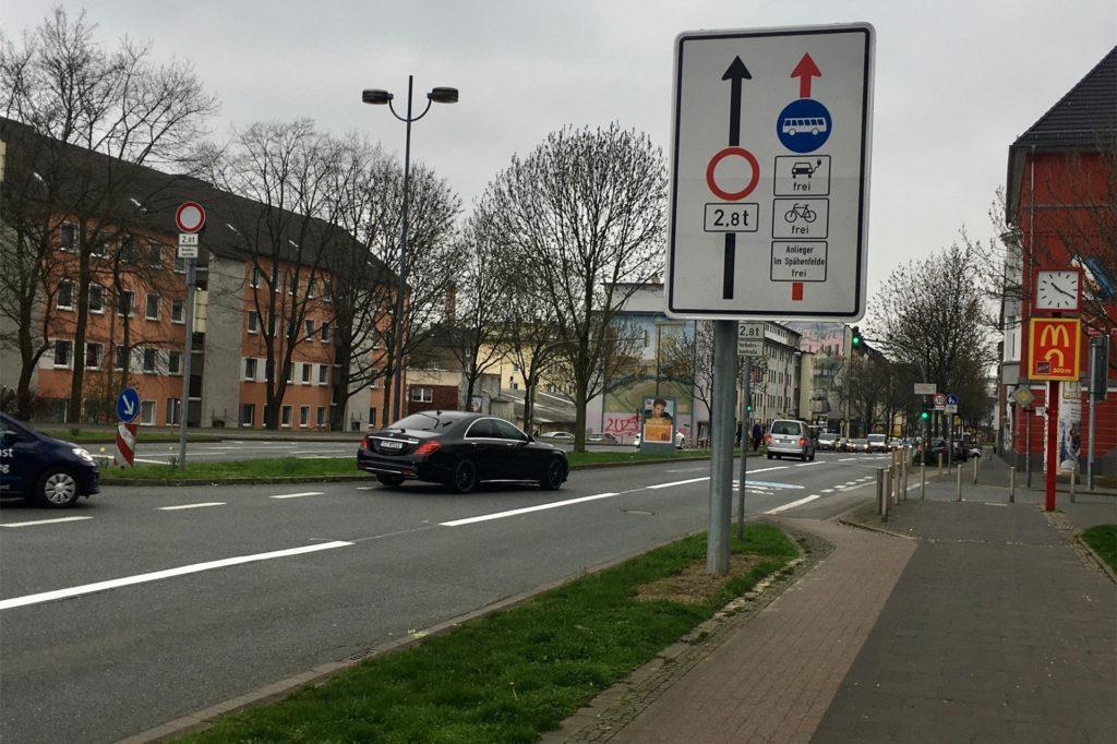 """Auch die Umweltspur an der Brackeler Straße soll zur """"Verkehrswende"""" beitragen."""