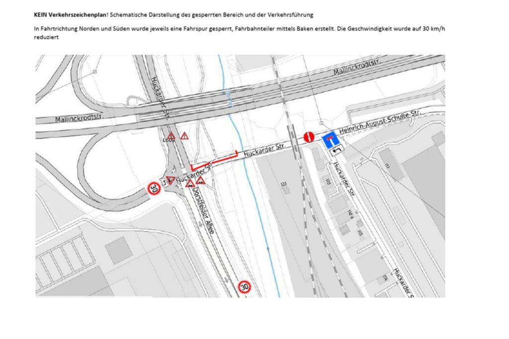 Die Grafik der Stadt Dortmund zeigt, in welchem Bereich die Sperrung ab dem 23. Januar gilt.