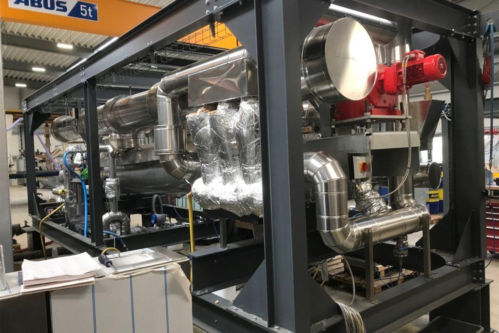 Ein Vakuumtrocker: Eine wichtige Komponente der Klärschlammverwertung.