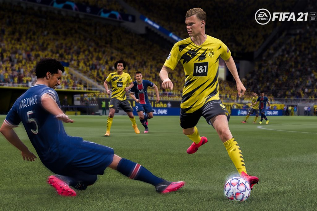 """""""Fifa"""" ist eine Fußball-Simulation von """"EA Sports"""". Das Videospiel kann auf verschiedenen Plattformen wie der Playstation gespielt werden."""