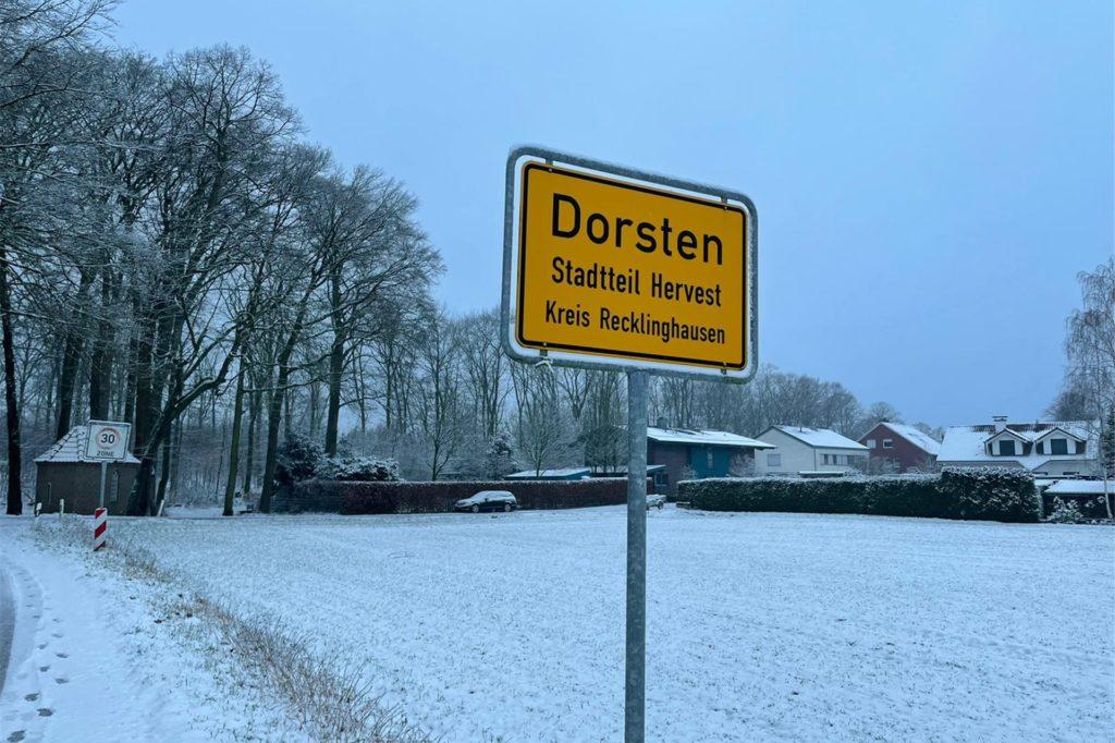 Schnee in Dorsten
