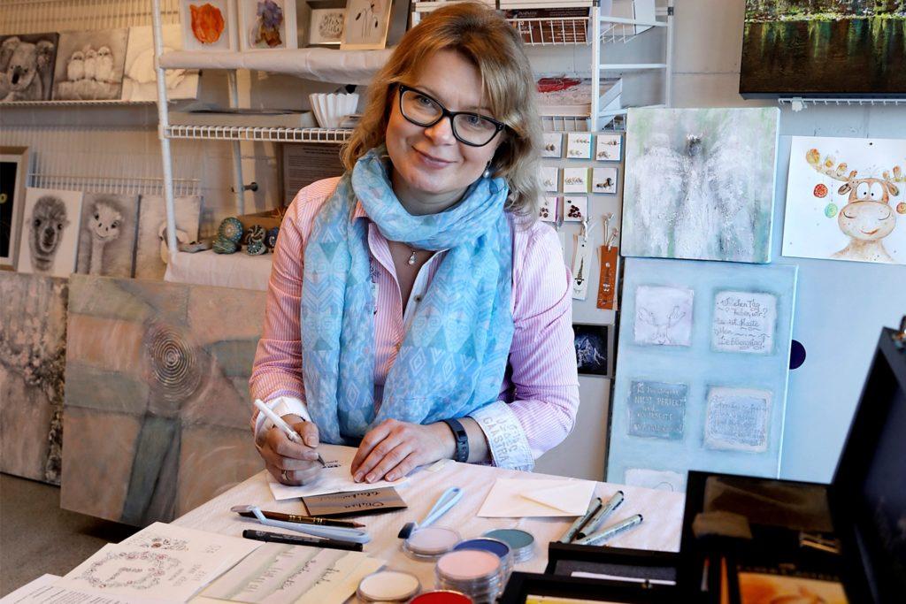 Olga Pelster hat sich über die Grenzen der Stadt Haltern als Künstlerin einen Namen gemacht.