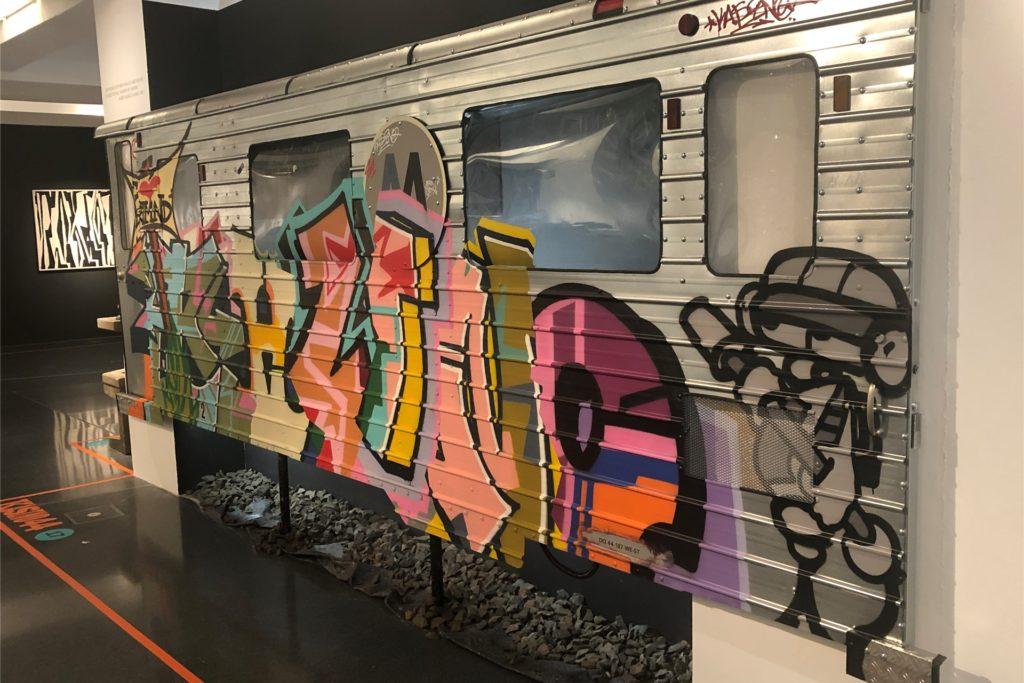 Eine vom Graffiti-Künstler