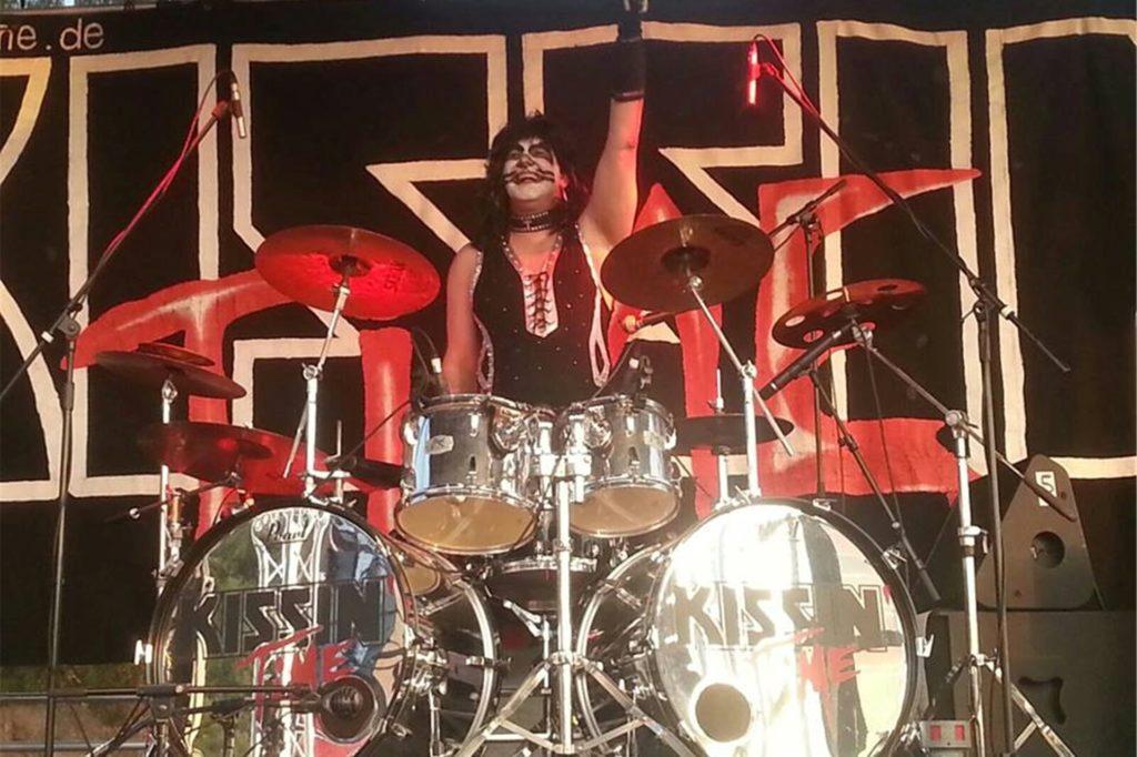 Matt Bauer ist auch auf der Bühne immer gut drauf.