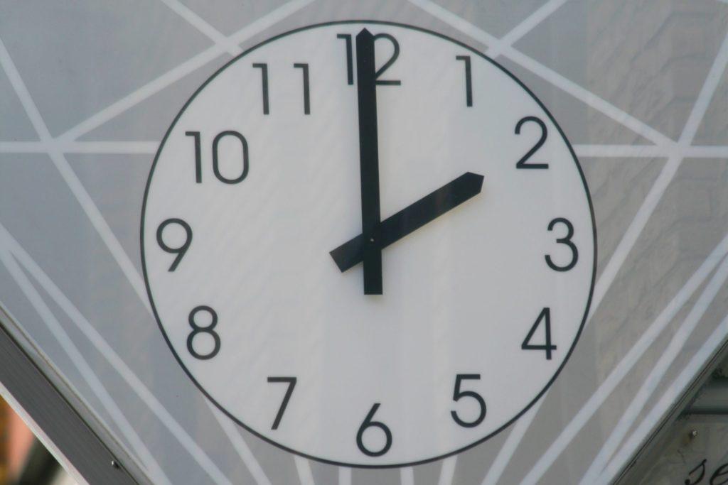 Jahrelang hing diese markante Uhr an der Fassade des Juwelier-Geschäfts Bleckmann in Werne.