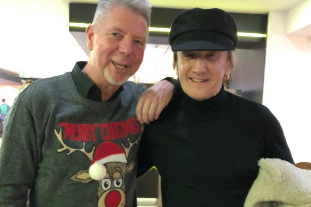 Am 20. Dezember 1989 stand Heiko Wasser (l.) beim Konzert von Marius Müller-Westernhagen als Fan vor der Bühne. In seinem Job als Formel-1-Reporter für RTL ist er ihm danach mehrmals begegnet.