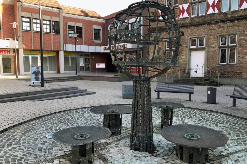 Am Moormannplatz gibt es auch heute noch einen Brunnen.