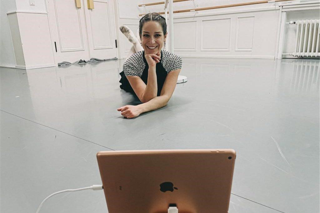 Gute Laune trotz schwieriger Lockdown-Situation hat Ballettstudio-Chefin Katja Wibbeke nach wie vor