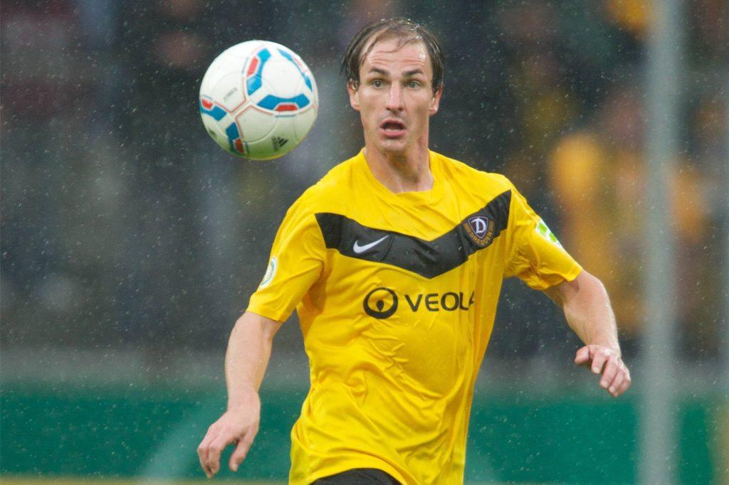 Der Ex-Lüner David Solga 2011 im Trikot von Dynamo Dresden.