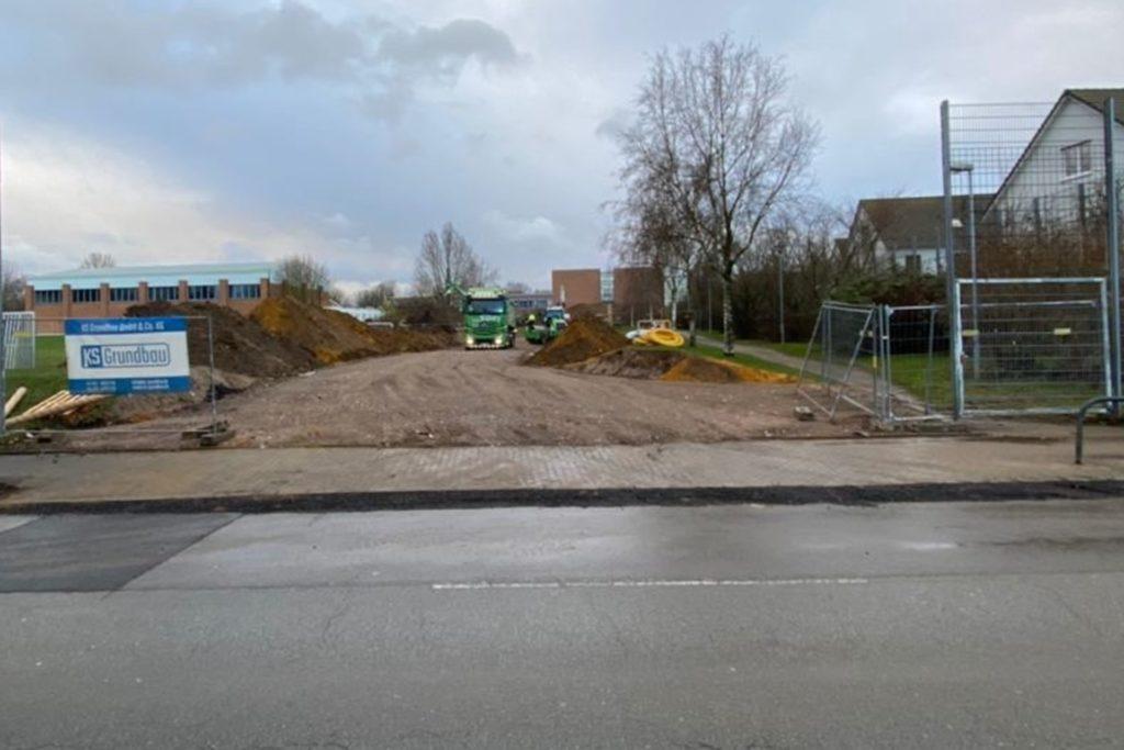 Die Bauarbeiten für das Gebäude der Schüler der Sekundarstufe I haben im Januar begonnen.
