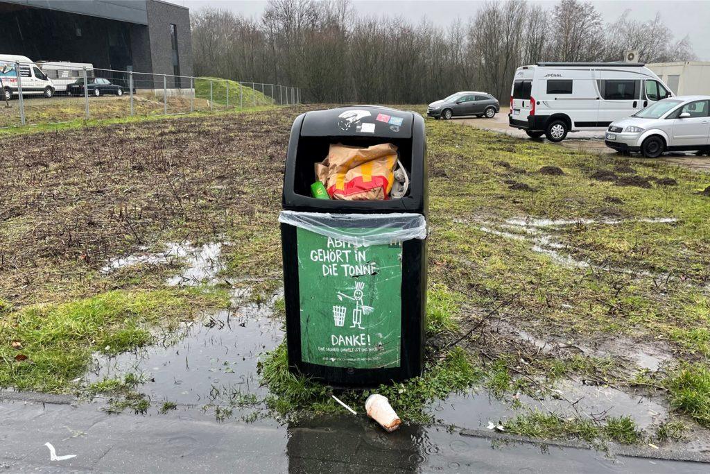 Mc Donalds Filiale in Dorsten Lembeck und die Müllproblematik