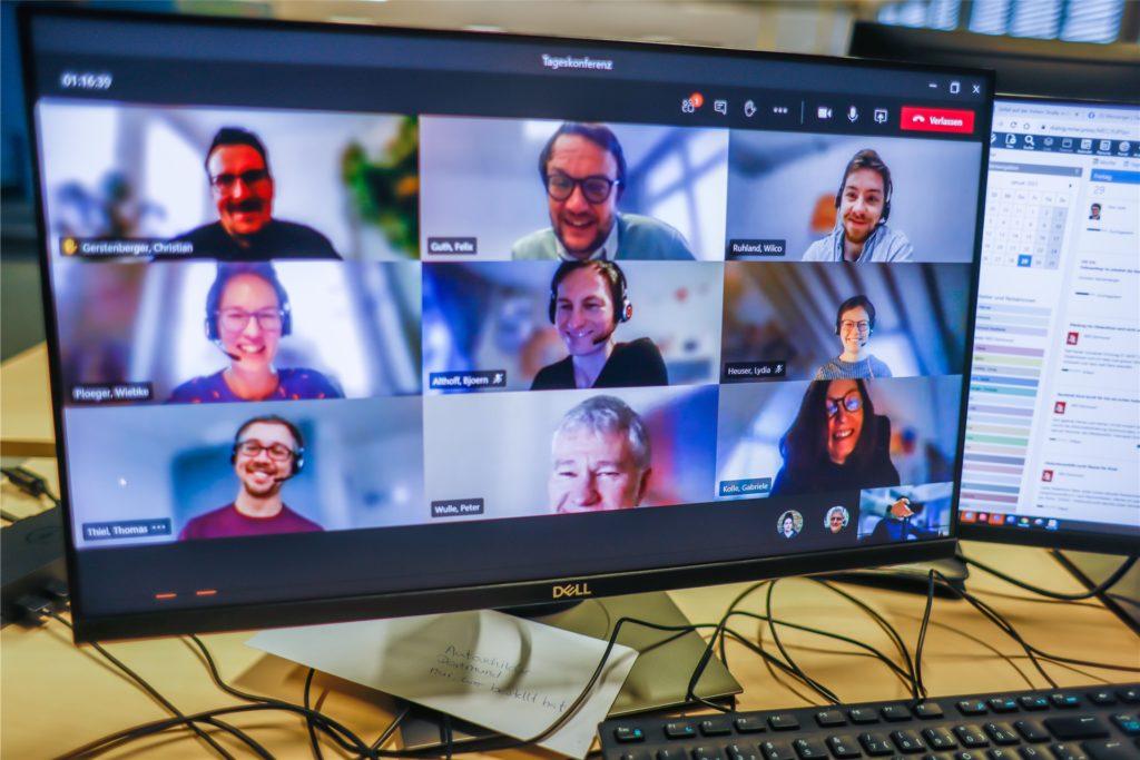 Die Redaktionskonferenz findet per Video-Schalte statt.
