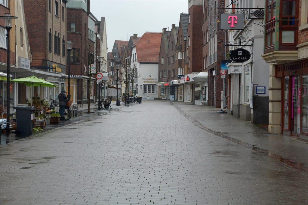 Die Steinstraße in Werne hieß früher mal