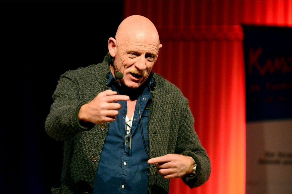 Schauspieler und Mediziner Joe Bausch, hier bei einer Lesung in Lünen, ist Schirmherr des Preises für Zivilcourage.