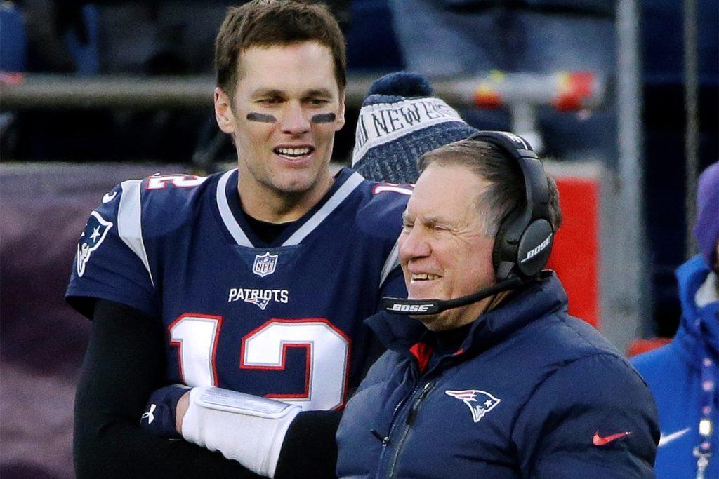 Waren ein phänomenales Duo bei den New England Patriots: Quarterback Tom Brady und Patriots-Coach Bill Belichick (r.).