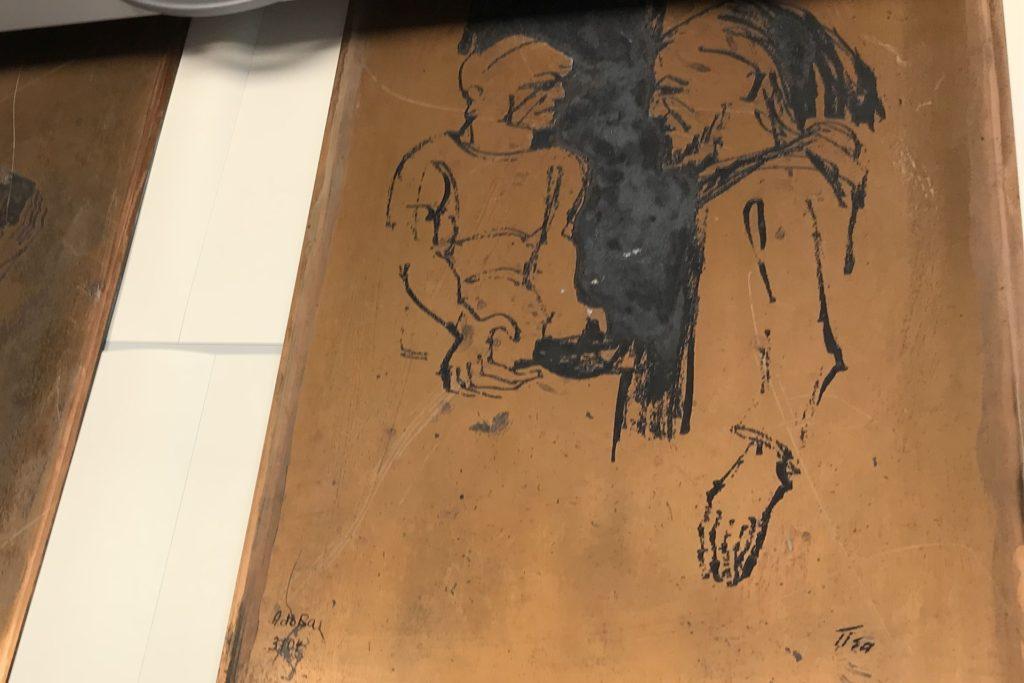 Auch die Original-Kupferplatten für den Tisa-Kreuzweg auf der Prosper-Halde befinden sich im Archiv.