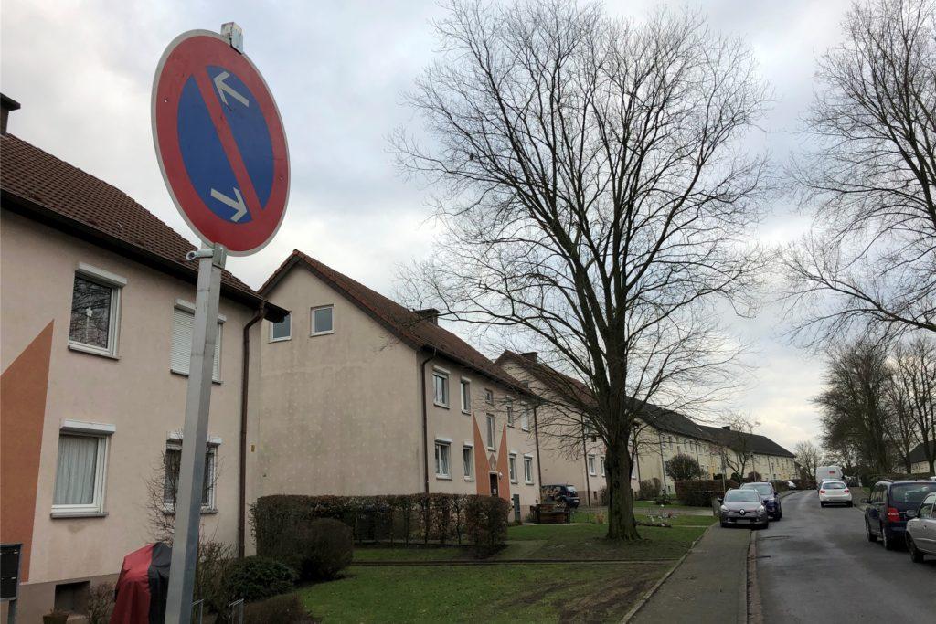 Auf der Straße Nienkamp gilt jetzt ein einseitiges Parkverbot. Der eine oder andere muss sich daran noch gewöhnen.